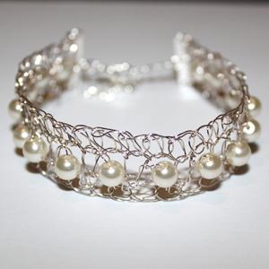 Crochet Pearl Bracelet